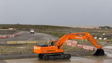 A Hinkley Point, le site sur lequel les réacteurs EPR doivent sortir de terre.