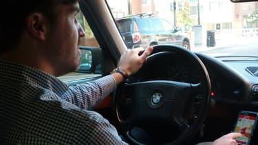 Un chauffeur de la compagnie de VTC Postmates