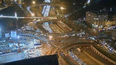 Embouteillages sur le périphérique parisien.