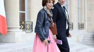 Marisol Touraine et Stéphane Le Foll le 28 septembre 2016 à la sortie du conseil des ministres.