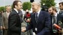 Emmanuel Macron et Alain Juppé le 16 juin 2016 à Villepinte.