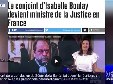 """Au Québec, Éric Dupond-Moretti est surtout connu comme étant le """"conjoint"""" d'Isabelle Boulay"""