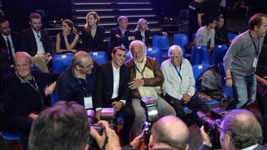 Brahim Asloum et Jean-Paul Belmondo