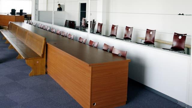 Photo prise le 05 avril 2007 à Strasbourg de la salle d'audience de la cour d'assises du Bas-Rhin.