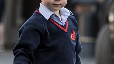 Le prince George le jour de sa première rentrée scolaire