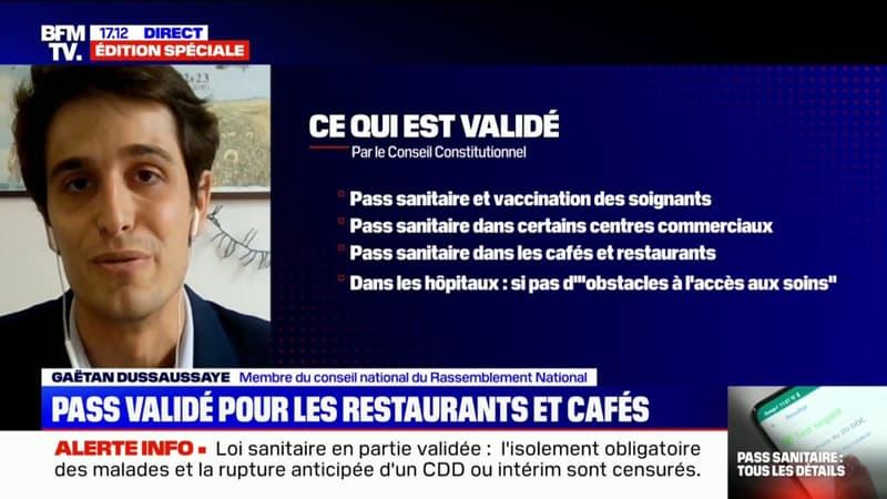 """Gaëtan Dussausaye: """"Le pass sanitaire est une mesure extrêmement liberticide"""""""