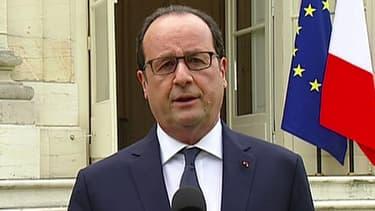 François Hollande à Dijon le 23 juillet 2015