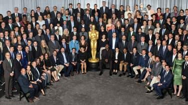 Les nommés à la 90ème cérémonie des Oscars réunis le temps d'un déjeuner, le 5 février 2018, à Hollywood