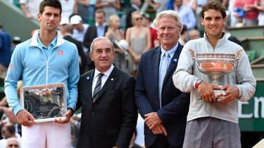 Novak Dkokovic et Rafael Nadal, les deux finalistes de l'édition 2014.