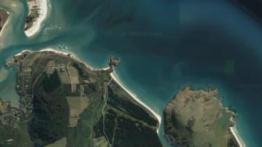 La plage de Doctor's Point en Nouvelle Zélande où le ministre de la Santé s'est promené avec sa famille.