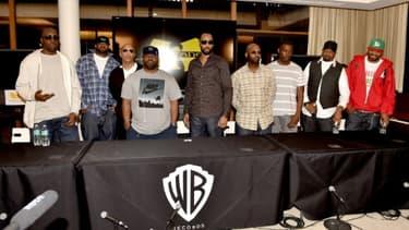 Les membres du groupe de rap new-yorkais Wu-Tang Clan, le 2 octobre 2014 à Burbank, en Californie