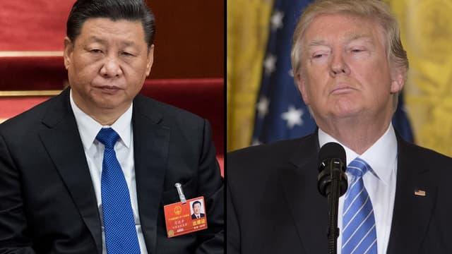 Xi Jinping, le dirigeant chinois et Donald Trump, le président américain.