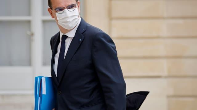 Le Premier ministre Jean Castex arrive à l'Elysée pour une réunion avec les partenaires sociaux, le 6 juillet 2021 à Paris