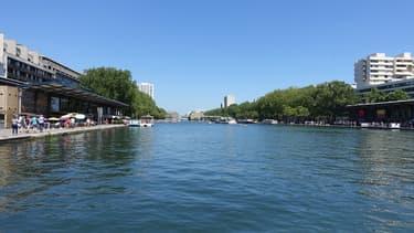 Le bassin de la Villette dans le 19e arrondissement de Paris (photo d'illustration).