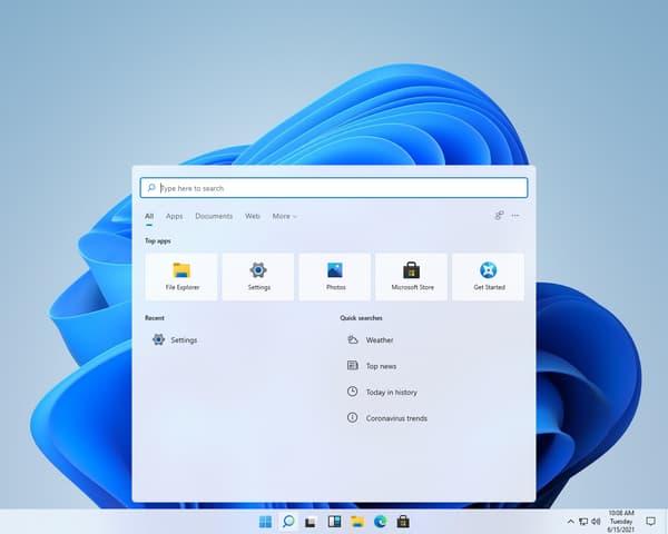 La nouvelle interface de Windows 11