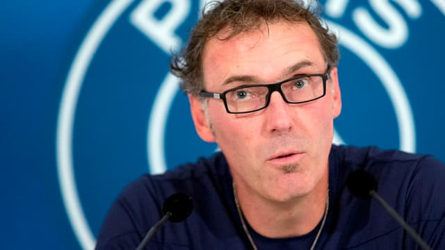 Laurent Blanc en conférence de presse.