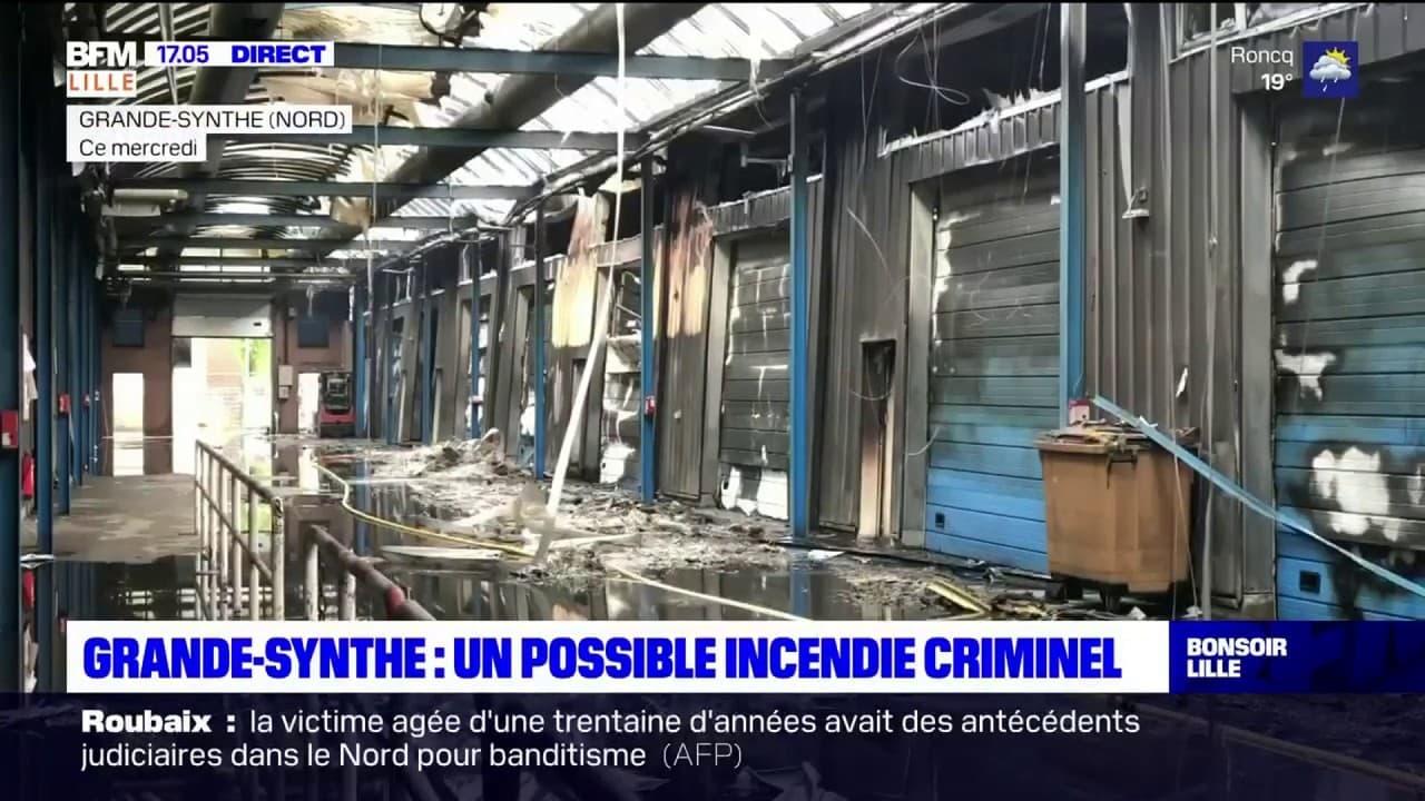 Grande-Synthe: un incendie a détruit les ateliers municipaux