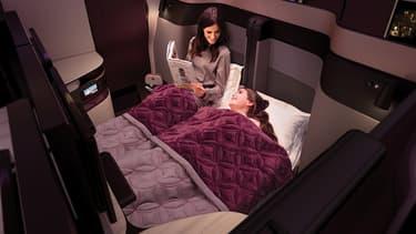 Un brevet et deux ans de développement pour ce fauteuil QSuite de Qatar Airways qui transforme l'espèce business en chambre privative.