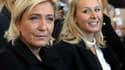 Marine Le Pen et Marion Maréchal le 15 octobre 2016 à Nice.