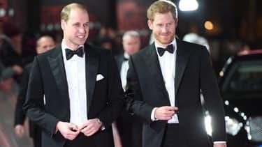 Le prince William  et le prince Harry à Londres le 12 décembre 2017