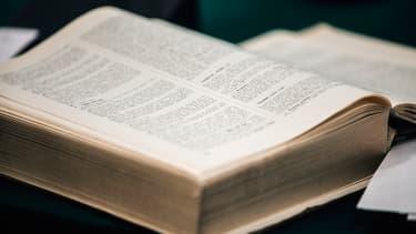 Un dictionnaire présenté à l'Académie française. (Photo d'illustration)
