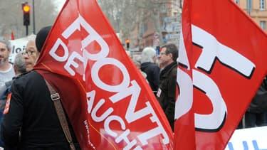 """Manifestation contre le """"pacte de responsabilité"""" à Toulouse, le 18 mars dernier (photo d'illustration)."""