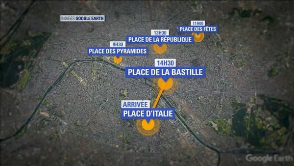 Les manifestations prévues à Paris pour le 1er mai