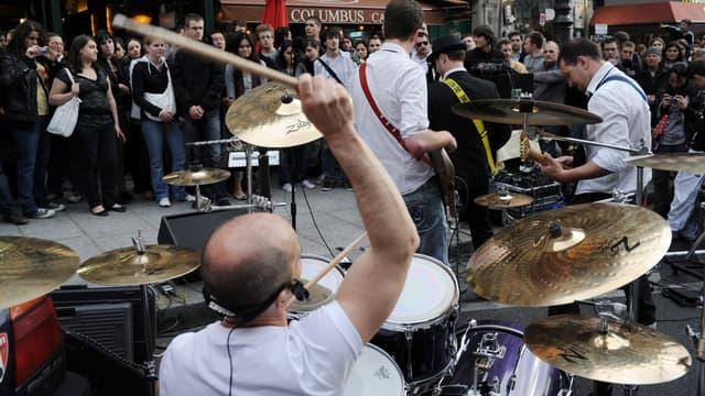 Concert dans les rues de Paris pour la fête de la musique 2010