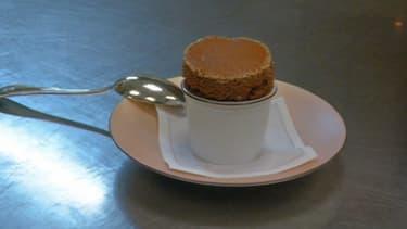 Le délicieux soufflé au chocolat de Claire Heitzler.