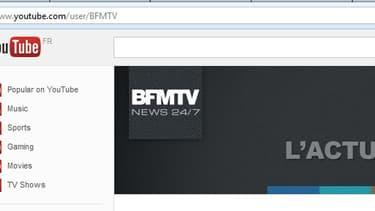 La chaîne youtube de BFMTV