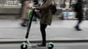 Une trottinette en libre-service à Paris (photo d'illustration)