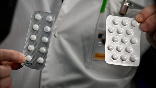 Des tablettes d'hydroxychloroquine et de chloroquine