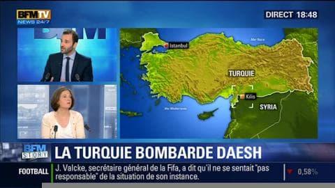 La Turquie a bombardé l'Etat islamique en Syrie