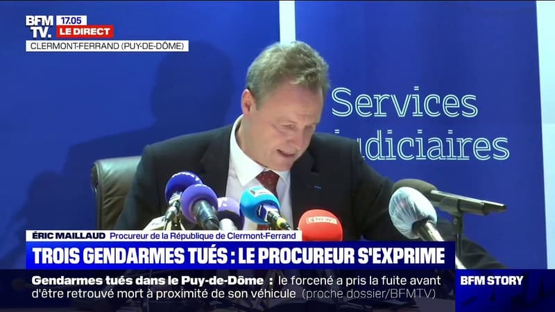 Trois gendarmes tués: pour le procureur de la République de Clermont-Ferrand,