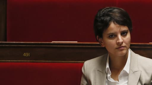 La ministre des Droits des femmes, Najat Vallaud-Belkacem, porteuse du projet de loi pour l'égalité entre les hommes et les femmes