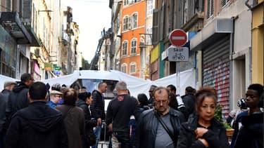 Rue d'Aubagne à Marseille.