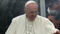Le pape François, mercredi au sanctuaire marial d'Aparecida au Brésil, où il va célébrer la première grand-messe de son pontificat hors de Rome.