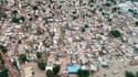 Vue d'une ville indienne du district de Karnataka en Inde.