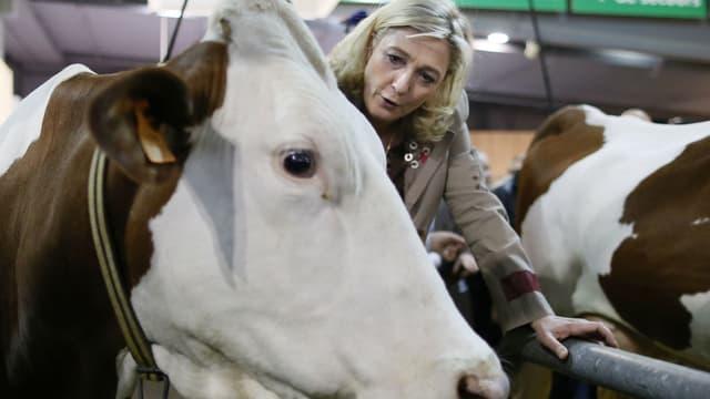 Marine Le Pen au salon de l'agriculture en 2013