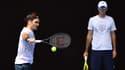Ljubicic supervise l'entraînement de Federer