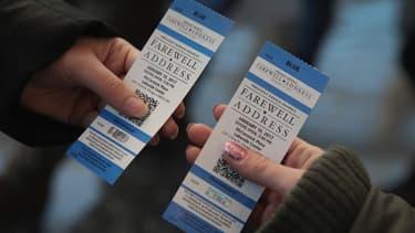 Des tickets pour assister au discours d'adieux de Barack Obama, le 10 janvier 2017, à Chicago.