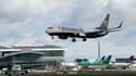 Un avion de la compagnie irlandaise Ryanair atterri à l'aéroport de Dublin en septembre 2017.