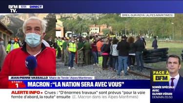 """Jean-Pierre Vassallo (maire de Tende): """"Je crois que le Président a compris notre détresse"""""""