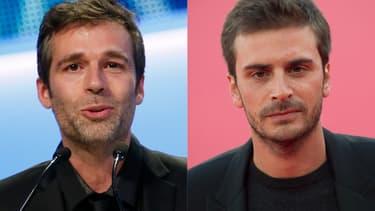 Vincent Trintignant récupérant le César du meilleur acteur de son père Jean-Louis, en 2013, et Roman Kolinka, au festival de Deauville en octobre 2019