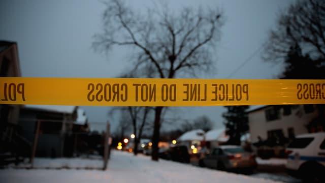 La police enquête sur les lieux d'un quadruple homicide, à Chicago, le 17 décembre 2016 (illustration).