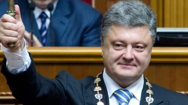Petro Porochenko lors de son investiture au Parlement, le 7 juin 2014, à Kiev.