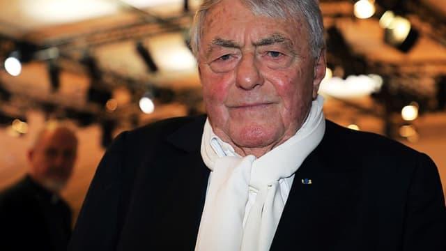 Claude Lanzmann en mars 2018, au dîner du Crif. -