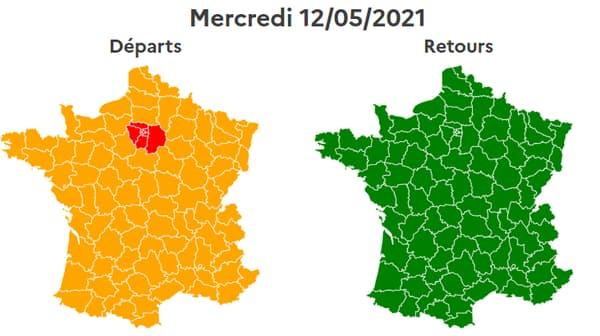 Le trafic est classé rouge mercredi 12 mai en Ile-de-France.