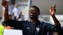 Paul Pogba à sa descente de l'avion à Roissy-Charles-de-Gaulle le lundi 16 juillet 2018