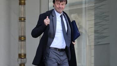 Nicolas Hulot à la sortie du conseil des ministres du 8 février 2018
